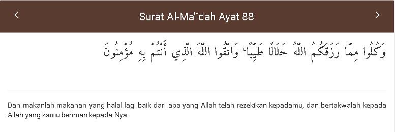 Al-Maidah Prinsip Konsumsi