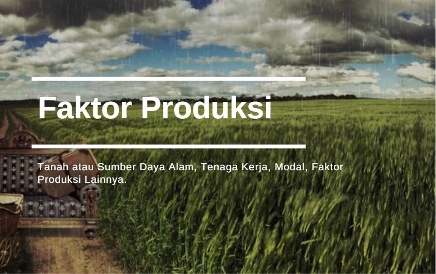 Konsep Produksi Dalam Ekonomi Islam