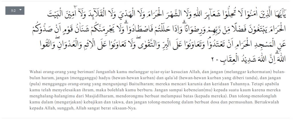 Al-Maidah Ayat 2 konsep kerjasama dalam Al-Quran